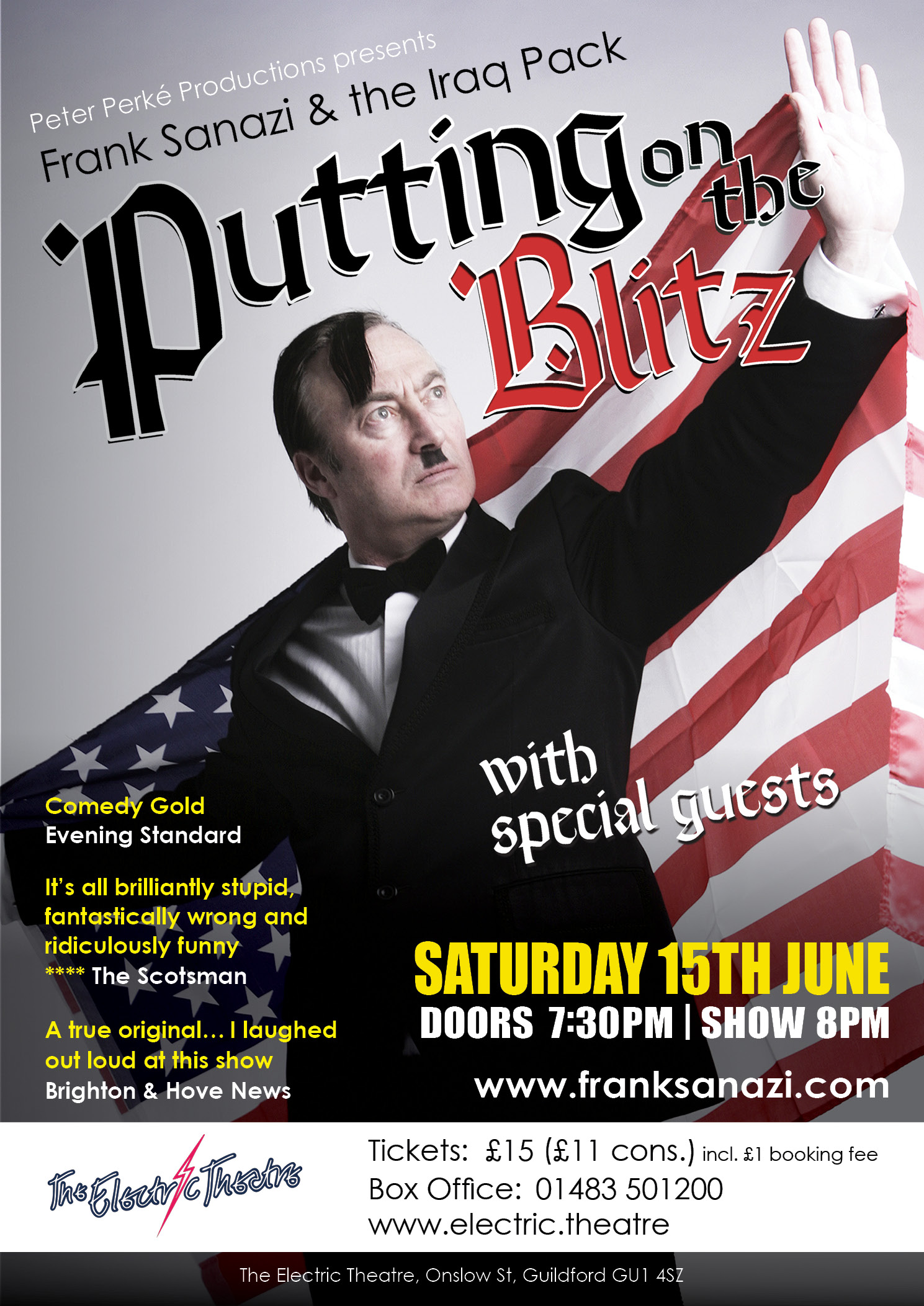 Frank Sanazi & The Iraq Pack: Putting on the Blitz (Guildford)